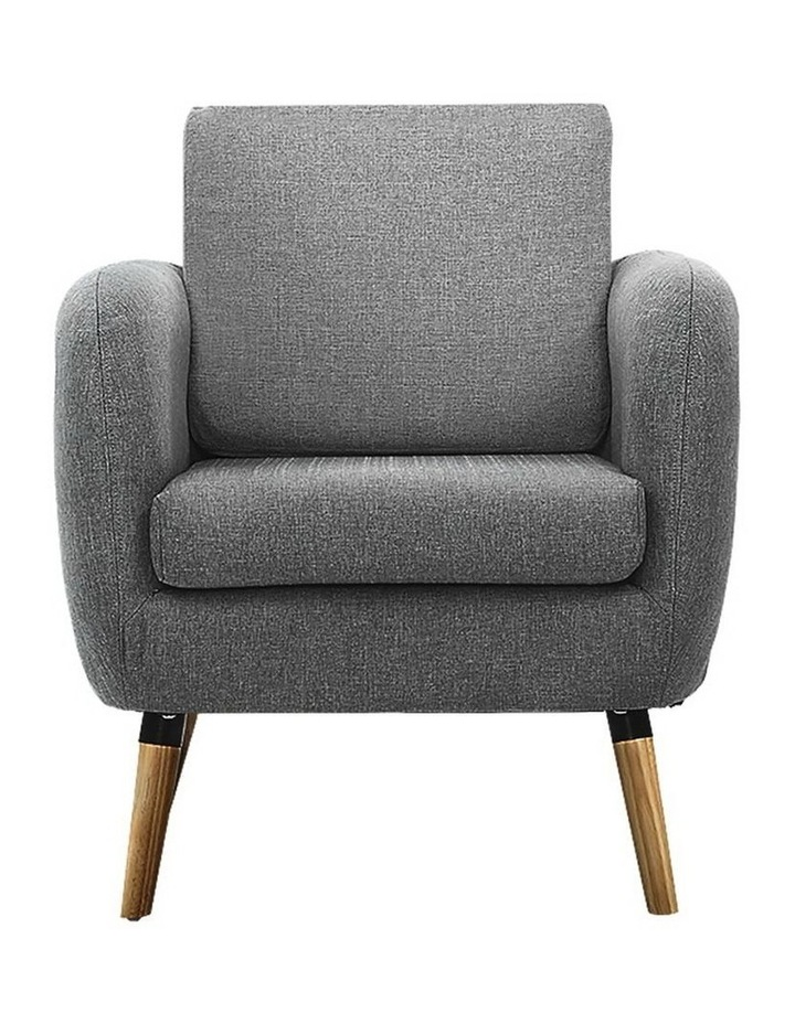 Lounge Chair Armchair with Ottoman image 3