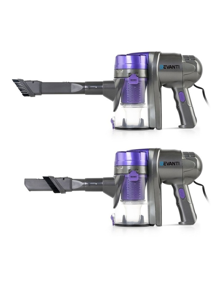 Corded Handheld Bagless Vacuum Cleaner - Purple and Silver image 5