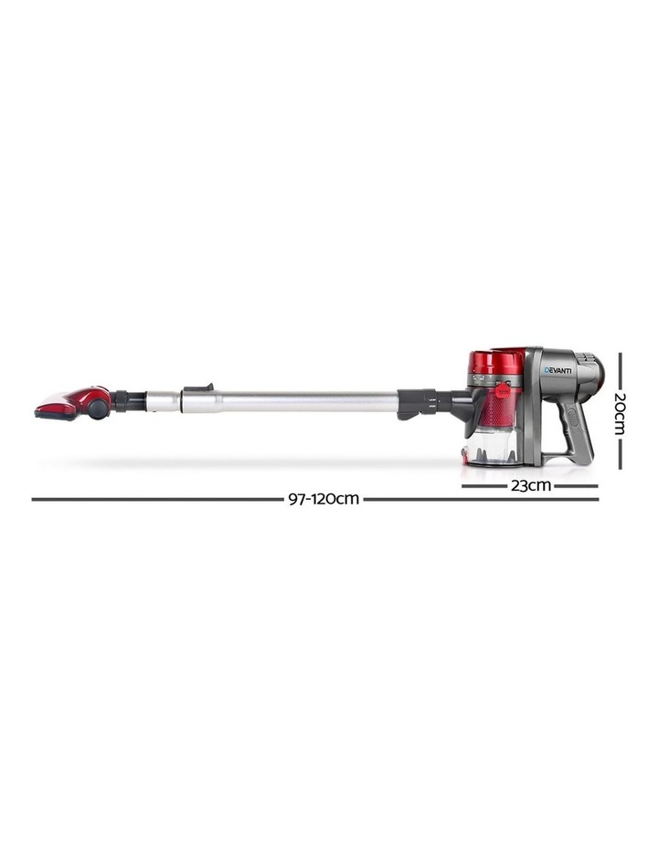 Corded Handheld Bagless Vacuum Cleaner - Red and Silver image 2