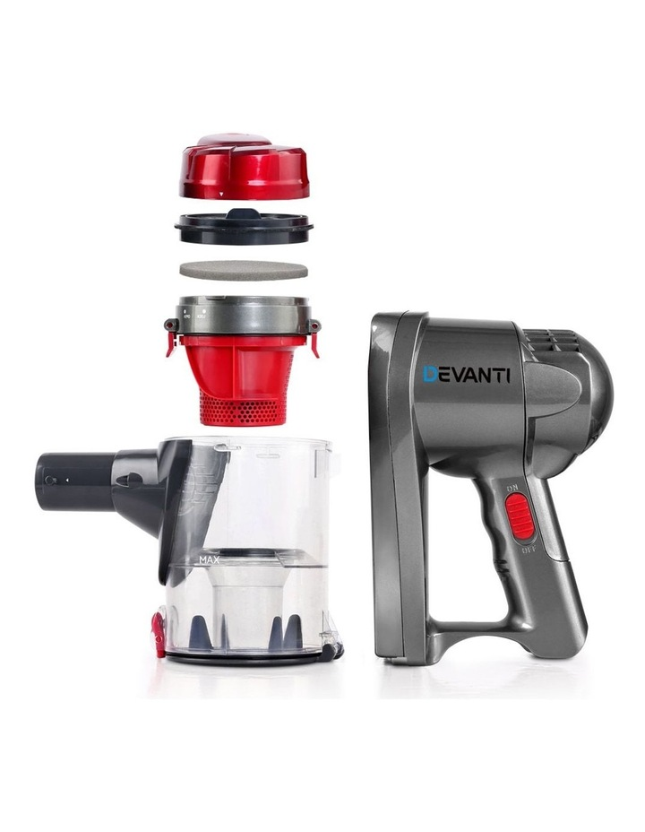 Corded Handheld Bagless Vacuum Cleaner - Red and Silver image 5