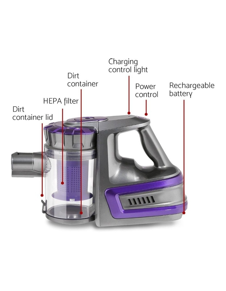 150W Cordless Stick Vacuum Cleaner Handheld Bagless Vac 2-Speed Grey image 4