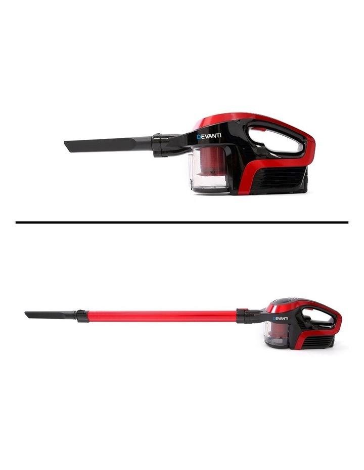 Devanti Cordless Stick Vacuum Cleaner - Black & Red image 3
