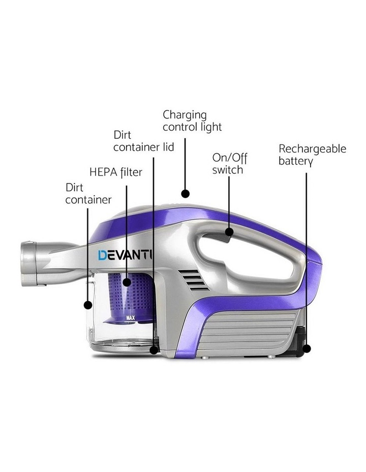 Cordless 150W Handstick Vacuum Cleaner - Purple and Grey image 5