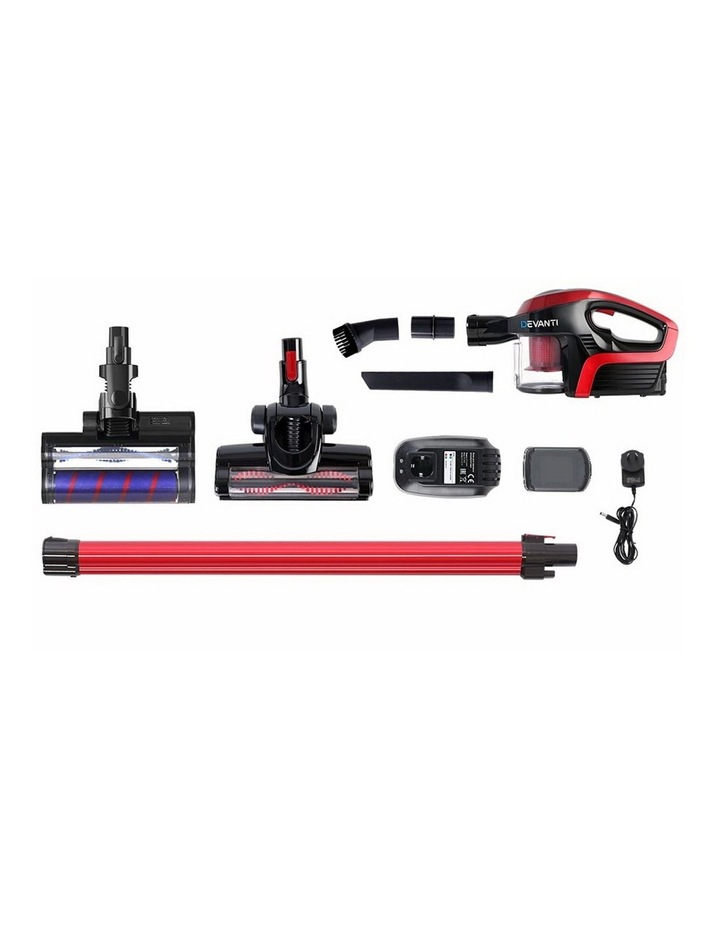 Cordless 150W Handstick Vacuum Cleaner - Red and Black image 3