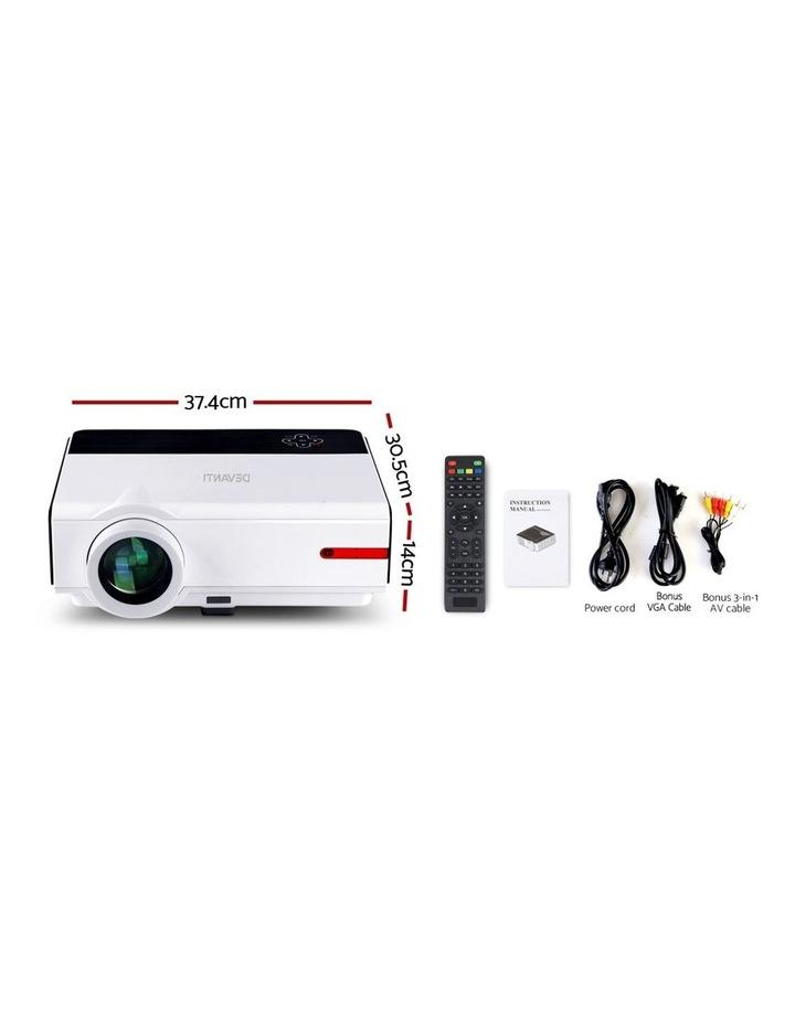 Devanti Smart HD Android Video Projector 5000 Lumen Home Theatre WiFi Bluetooth image 2