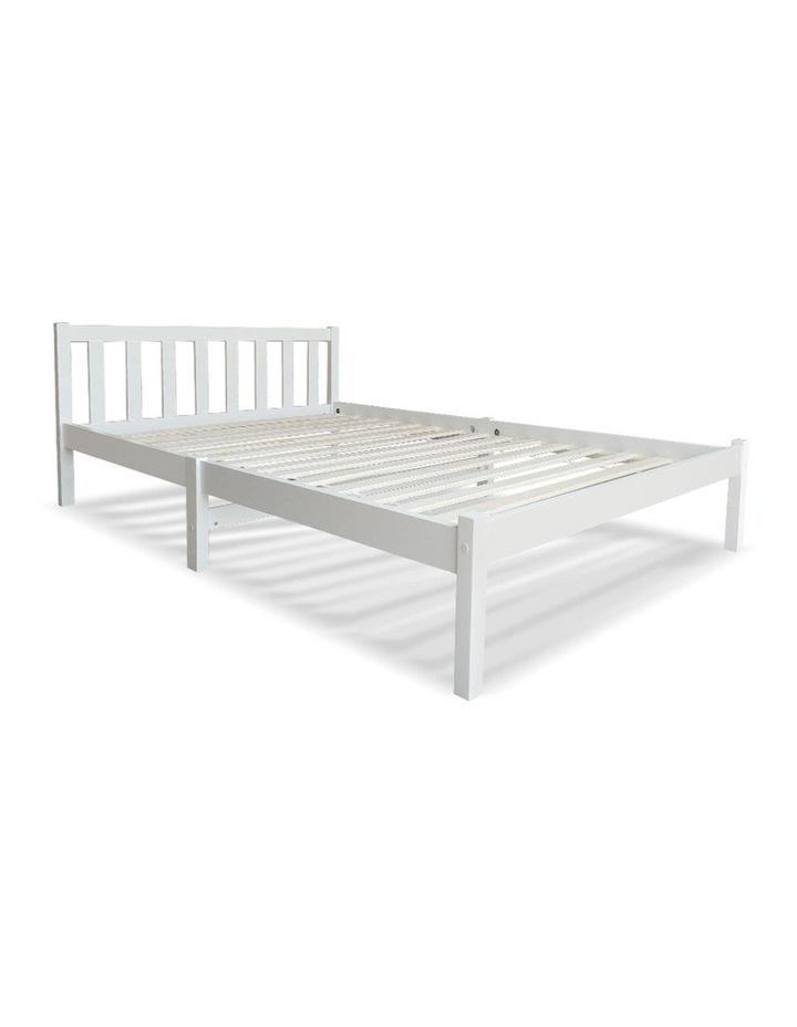 Single Wooden Bed Frame - White image 1