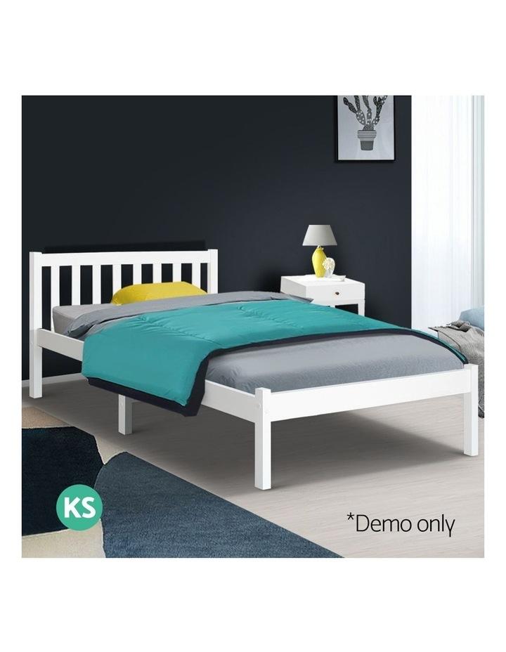 Single Wooden Bed Frame - White image 3