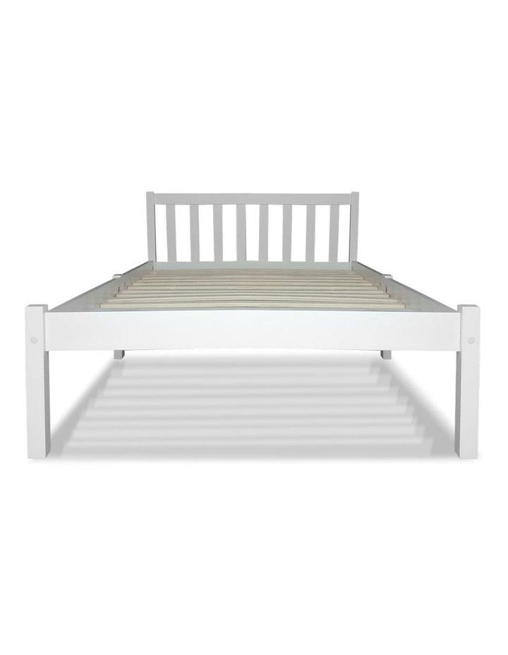 Single Wooden Bed Frame - White image 4