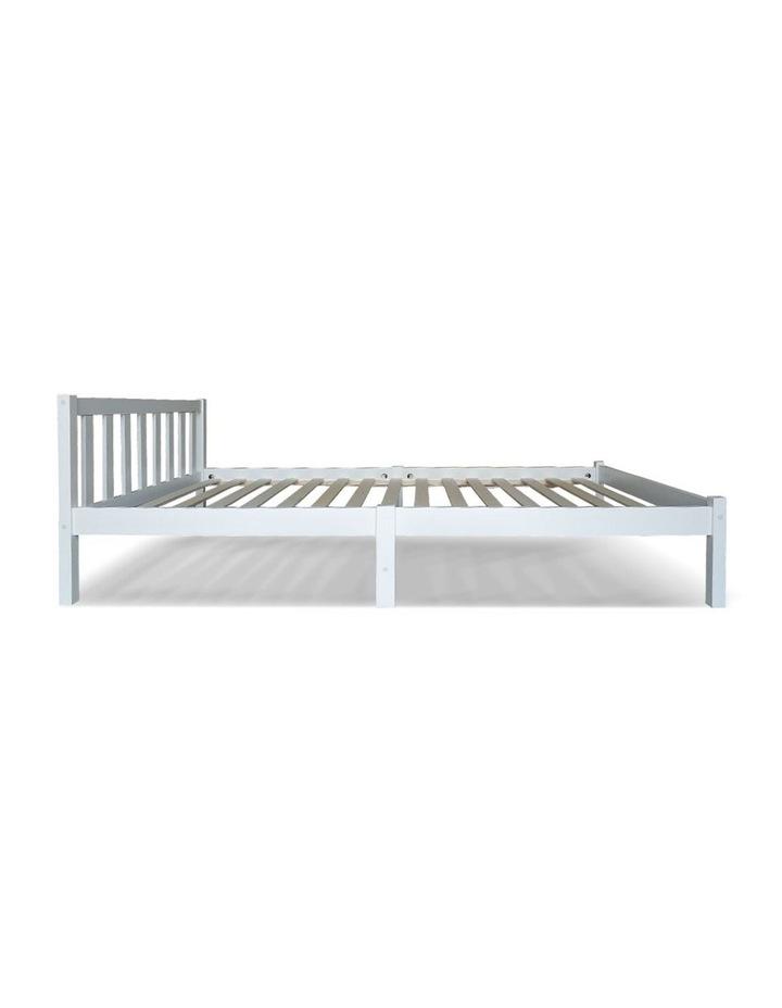 Single Wooden Bed Frame - White image 5