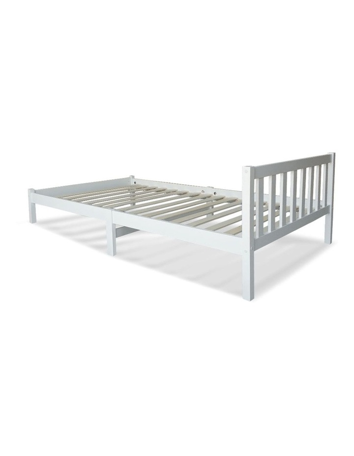 Single Wooden Bed Frame - White image 6