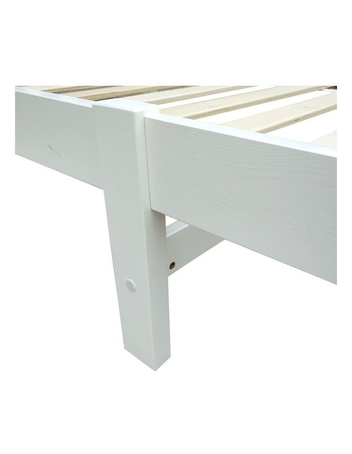Single Wooden Bed Frame - White image 7