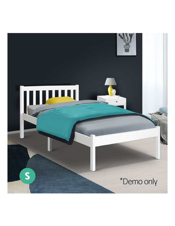 Single Size Wooden Bed Frame - White image 3