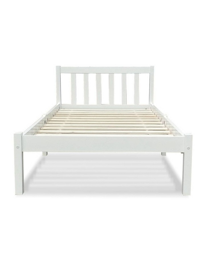 Single Size Wooden Bed Frame - White image 4