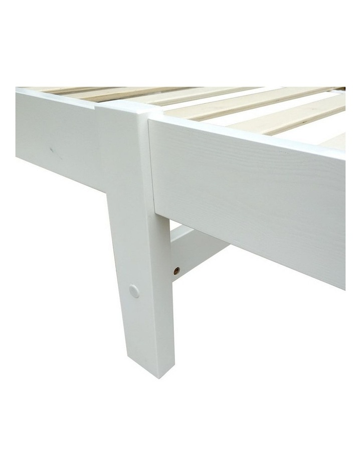 Single Size Wooden Bed Frame - White image 7