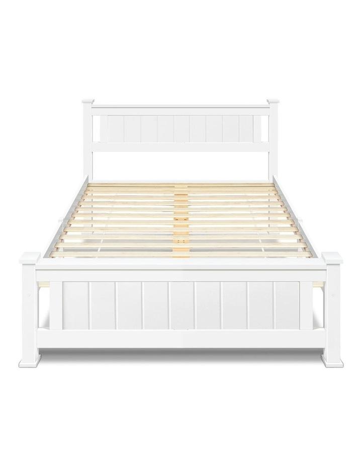 King Single Wooden Bed Frame - White image 4