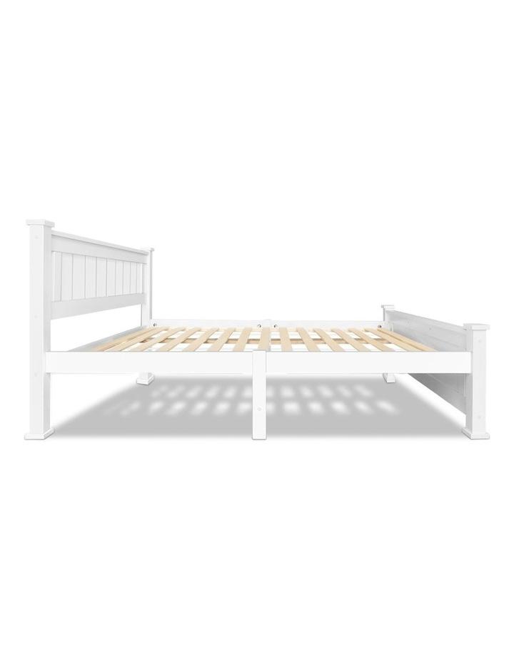 King Single Wooden Bed Frame - White image 5