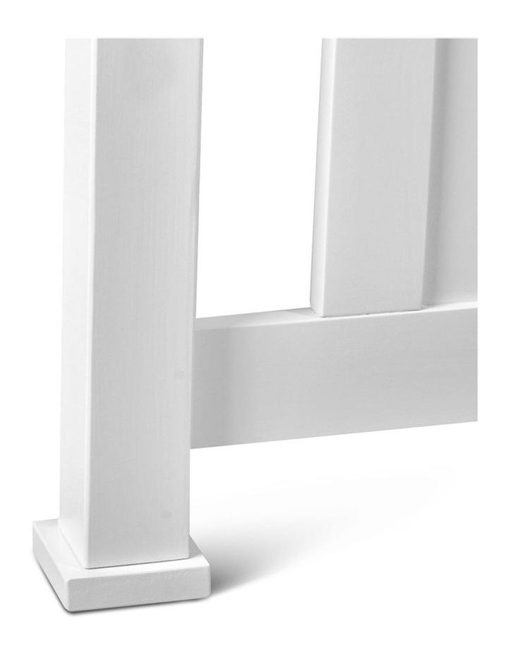 King Single Wooden Bed Frame - White image 7