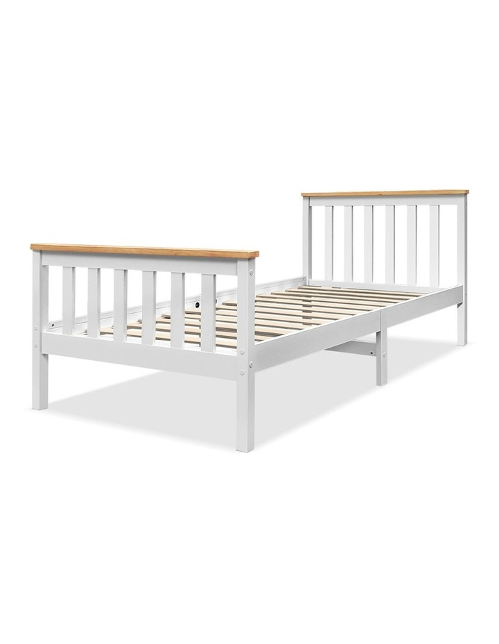Single Wooden Bed Frame PONY Timber Mattress Base Bedroom Furniture Kids image 1