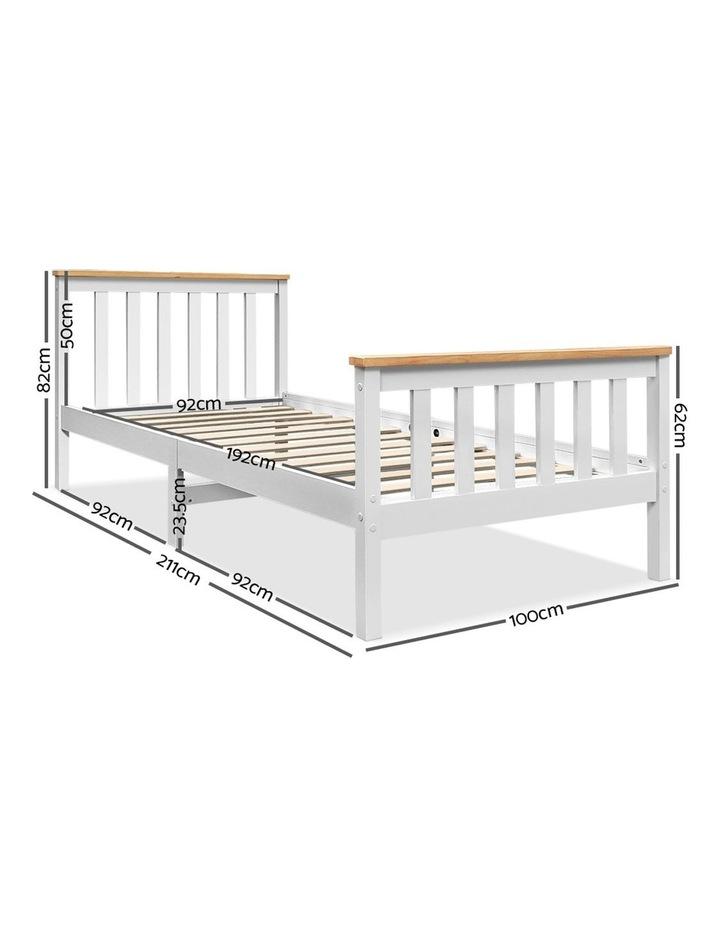 Single Wooden Bed Frame PONY Timber Mattress Base Bedroom Furniture Kids image 2