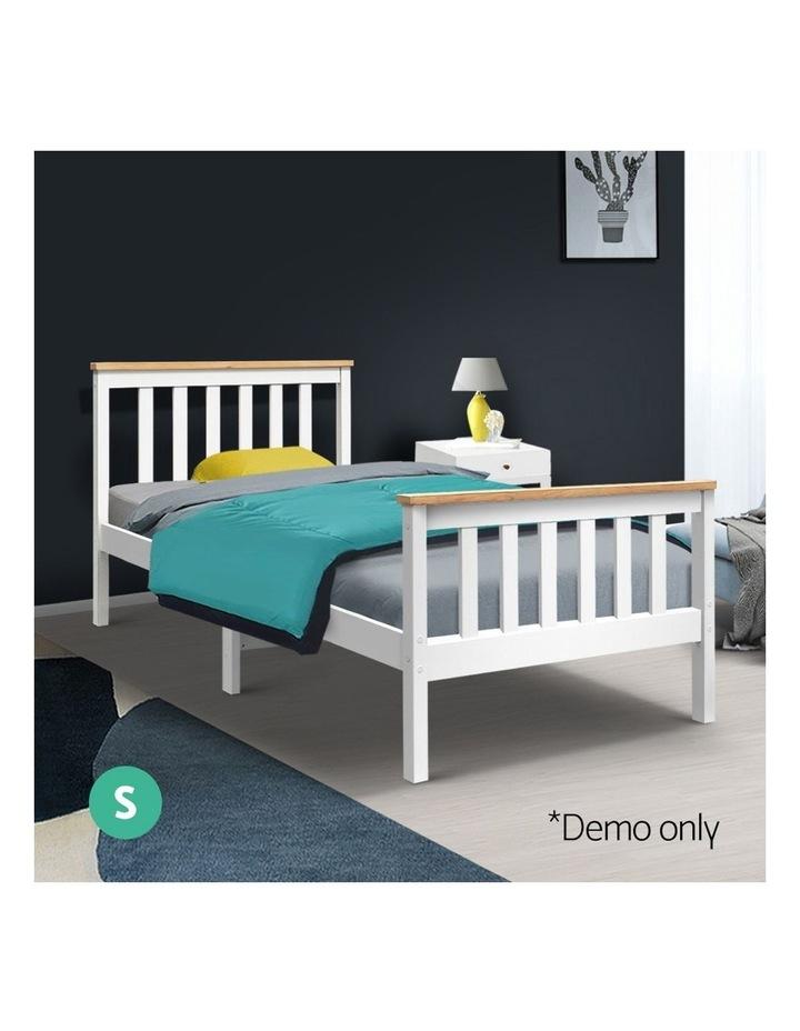 Single Wooden Bed Frame PONY Timber Mattress Base Bedroom Furniture Kids image 3