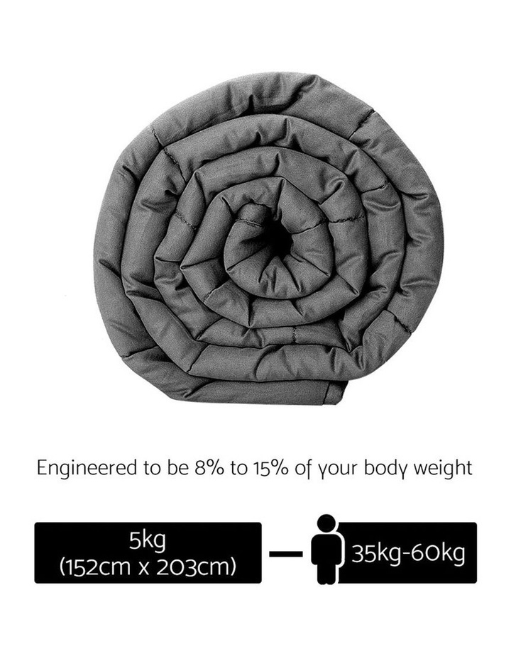 Cotton 5KG Weighted Gravity Blanket Deep Relax Sleeping Adult image 2