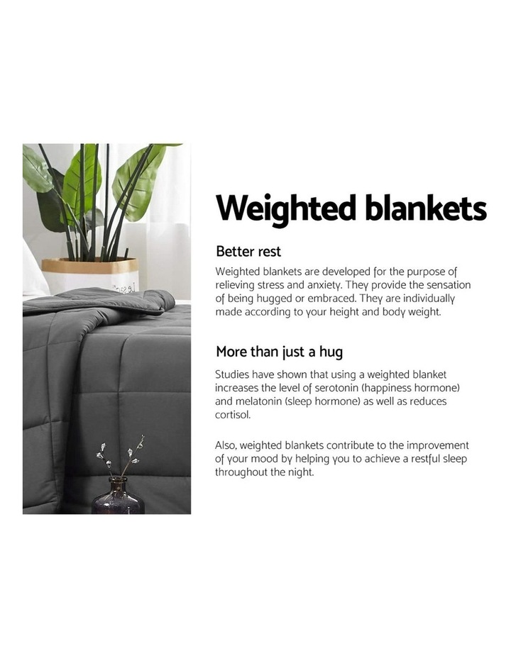 Cotton 5KG Weighted Gravity Blanket Deep Relax Sleeping Adult image 4