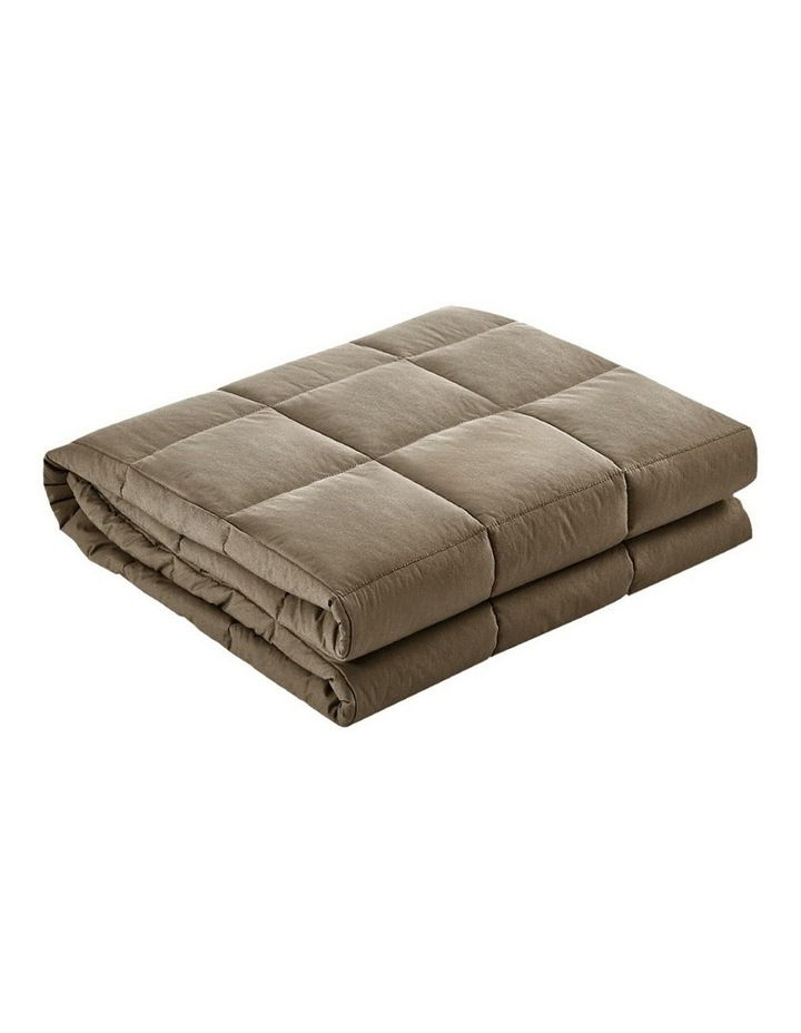 Cotton Weighted Blanket Heavy Gravity Deep Relax Sleep Adult 5KG Brown image 1