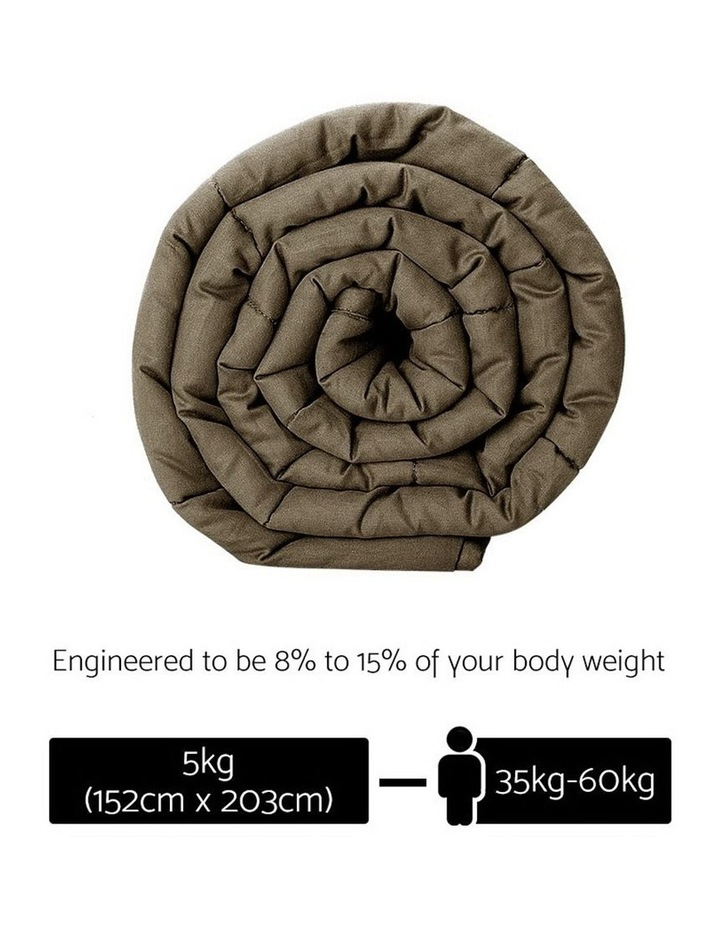 Cotton Weighted Blanket Heavy Gravity Deep Relax Sleep Adult 5KG Brown image 2