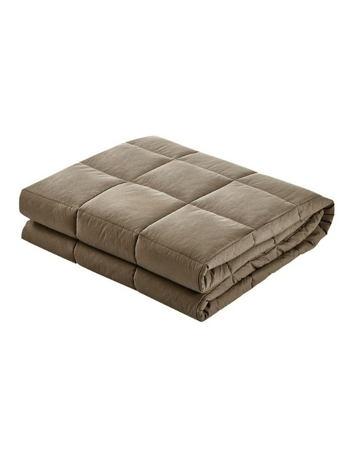 Cotton Weighted Blanket Heavy Gravity Deep Relax Sleep Adult 5KG Brown image 3