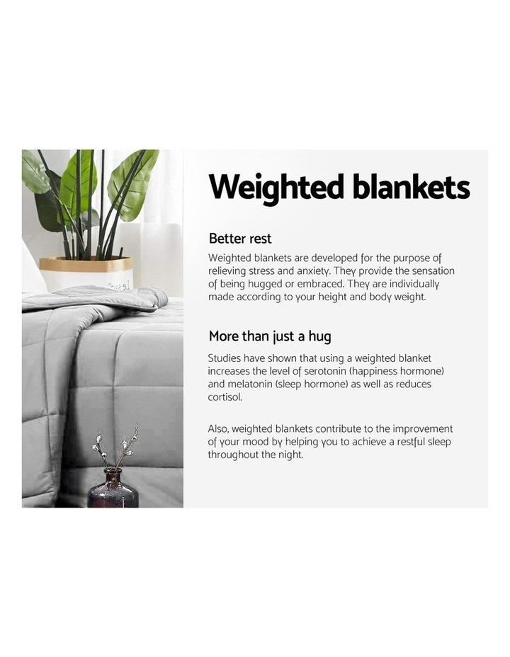 5KG Cotton Weighted Gravity Blanket Deep Relax Calming Adult image 4