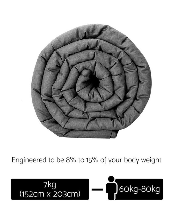 Cotton Weighted Gravity Blanket Deep Relax Sleeping Adult 7KG image 2
