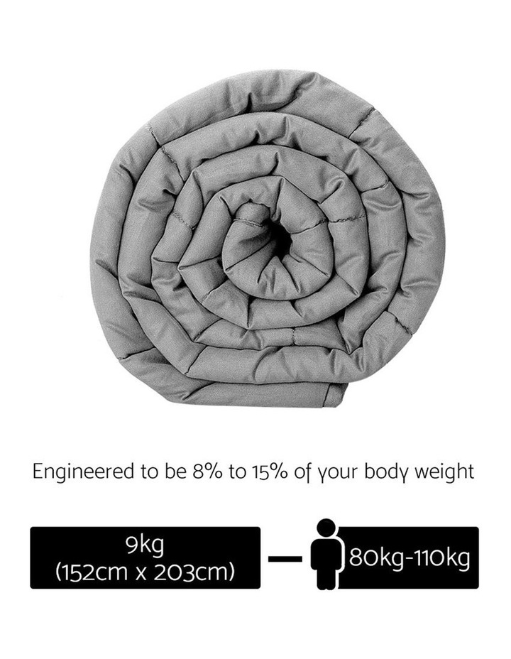 9KG Cotton Weighted Gravity Heavy Blanket Deep Relax Adult Grey image 2