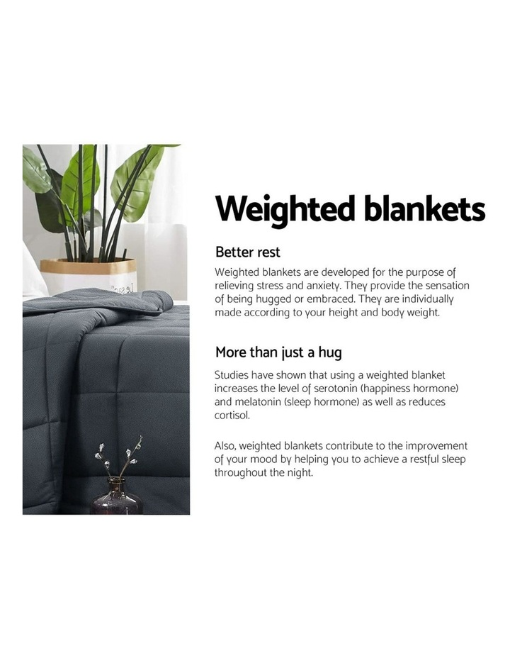 7KG Weighted Gravity Blanket Minky Deep Relax Calming Adult image 4