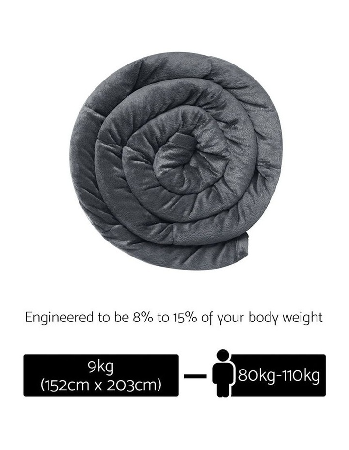 Weighted Blanket 9KG Heavy Gravity Minky Cover Relax Calm Adult image 2