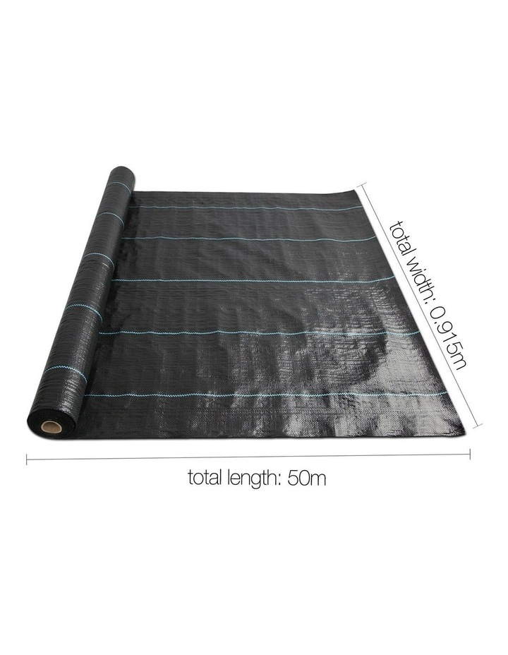 0.915m x 50m Weedmat Weed Control Mat Woven Fabric Gardening Plant image 2