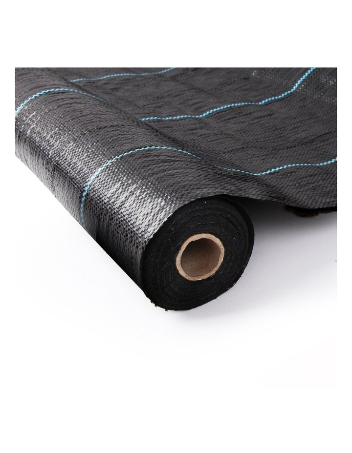 1.83m X 100m Weedmat Weed Control Mat Woven Fabric Gardening Plant PE Black image 1