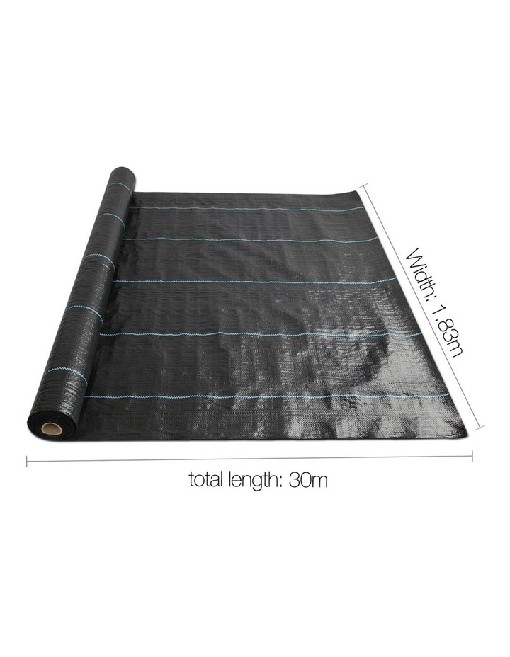 1.83m x 30m Weedmat Weed Control Mat Woven Fabric Gardening Plant PE image 2