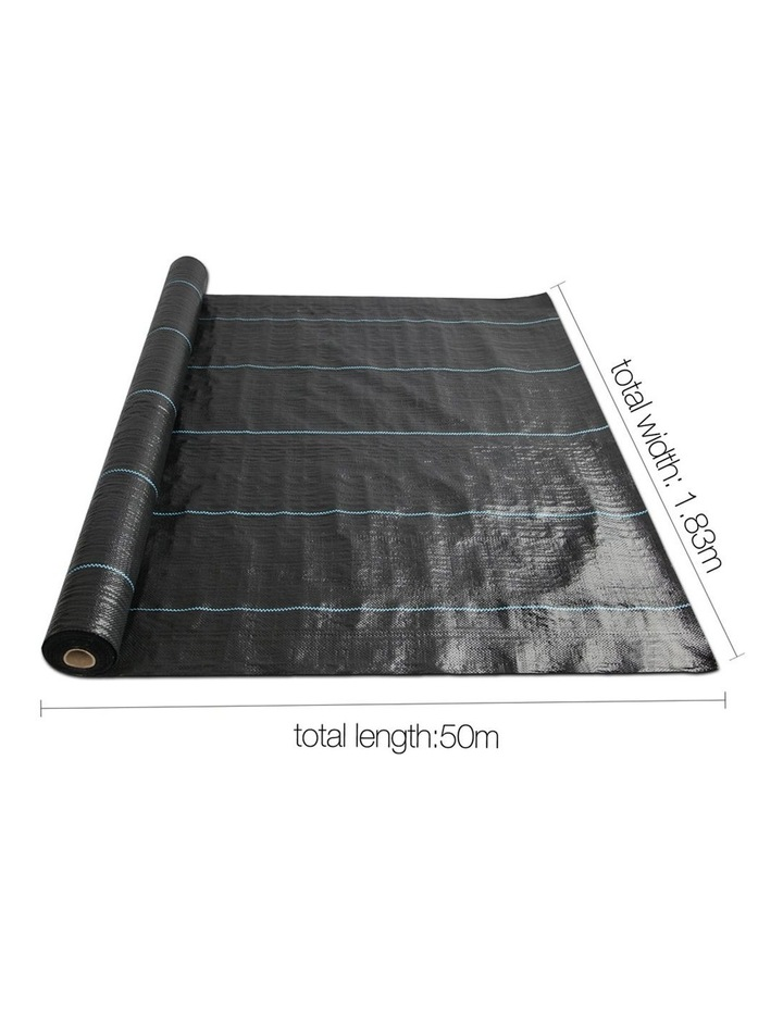 1.83m x 50m Weedmat Weed Control Mat Woven Fabric Gardening Plant PE image 2