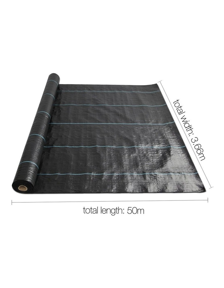 3.66m x 50m Weedmat Weed Control Mat Woven Fabric Gardening Plant PE image 2