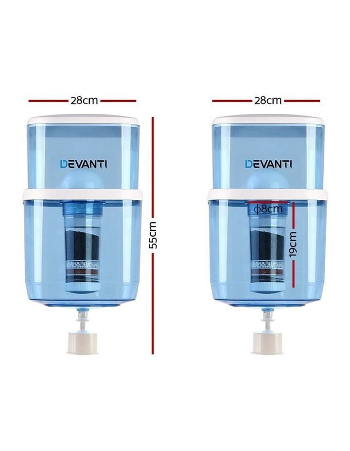 22L Water Dispenser Purifier Filter Bottle Container 6 Stage Filtration image 2