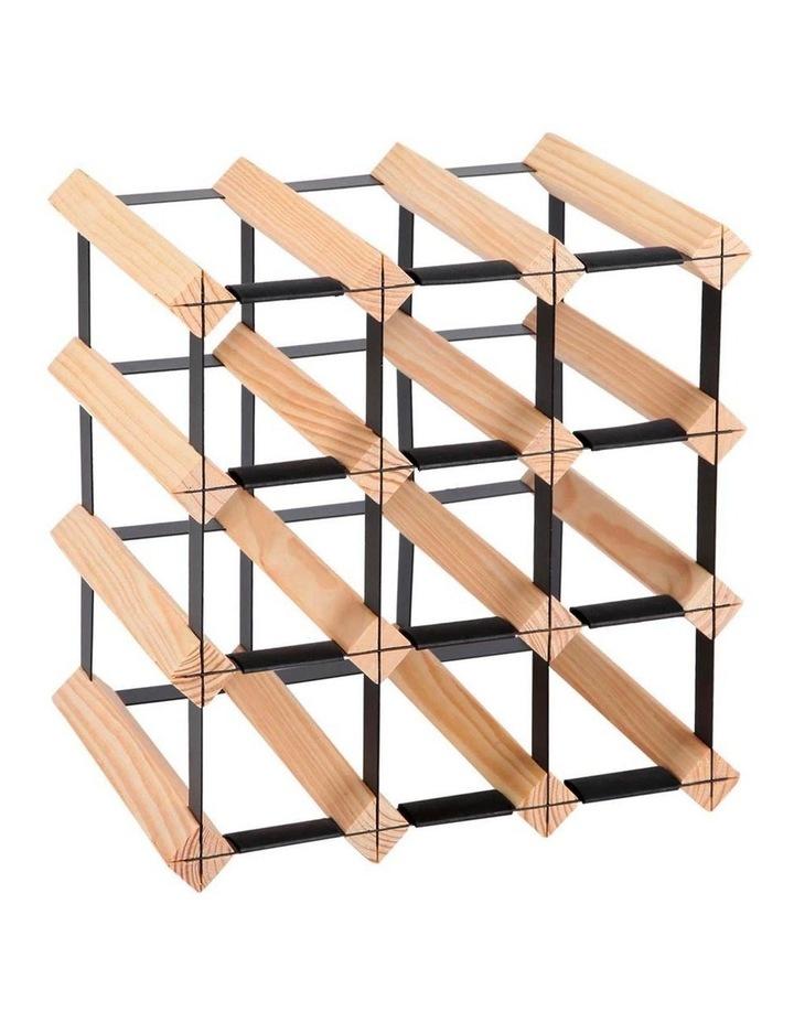 12 Bottle Timber Wine Rack image 1