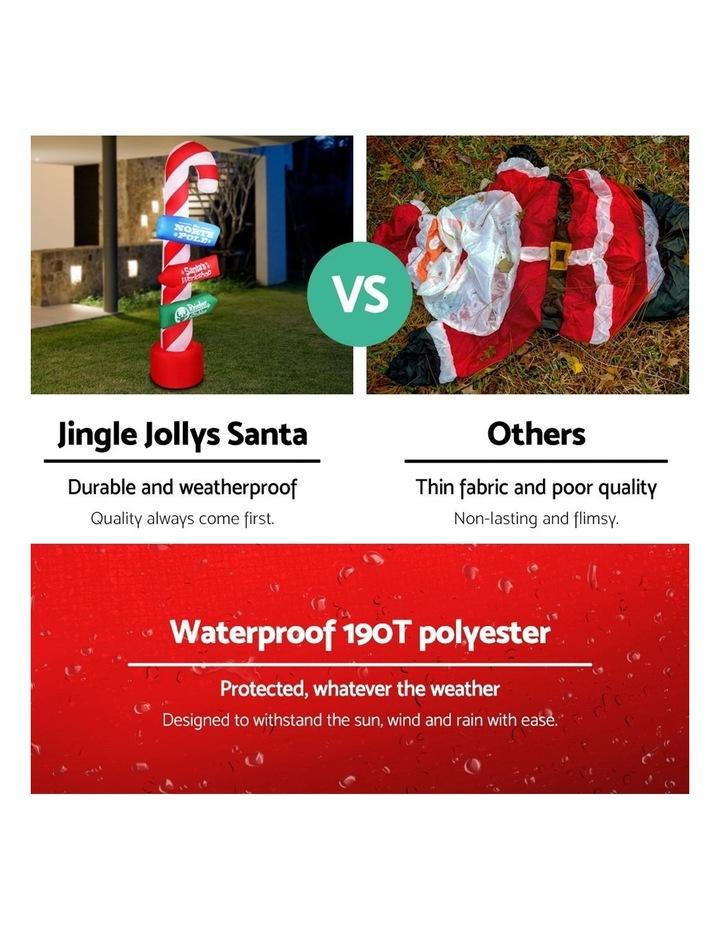 Jingle Jollys 2.4M Christmas Inflatable Santa Guide Candy Pole Xmas Decor LED image 4