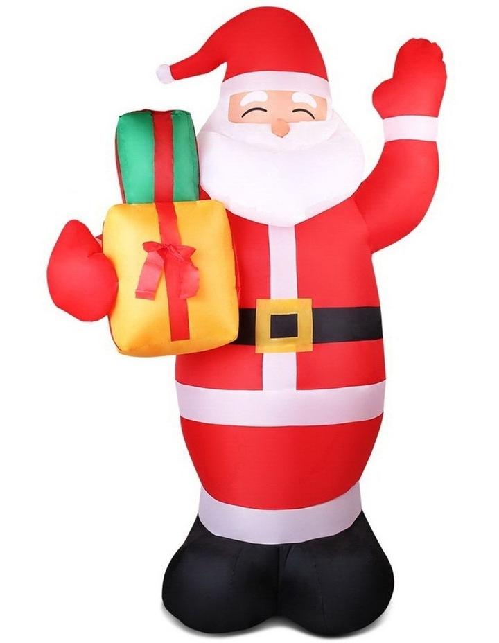 Jingle Jollys 2.4M Christmas Inflatables Santa Xmas Light Decor LED Airpower image 1