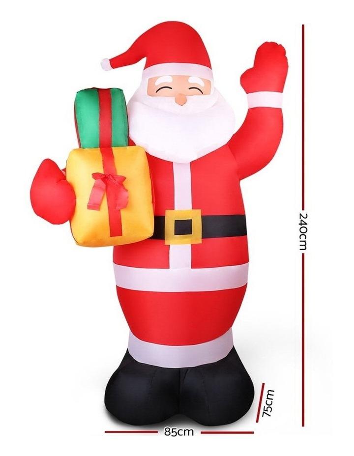 Jingle Jollys 2.4M Christmas Inflatables Santa Xmas Light Decor LED Airpower image 2
