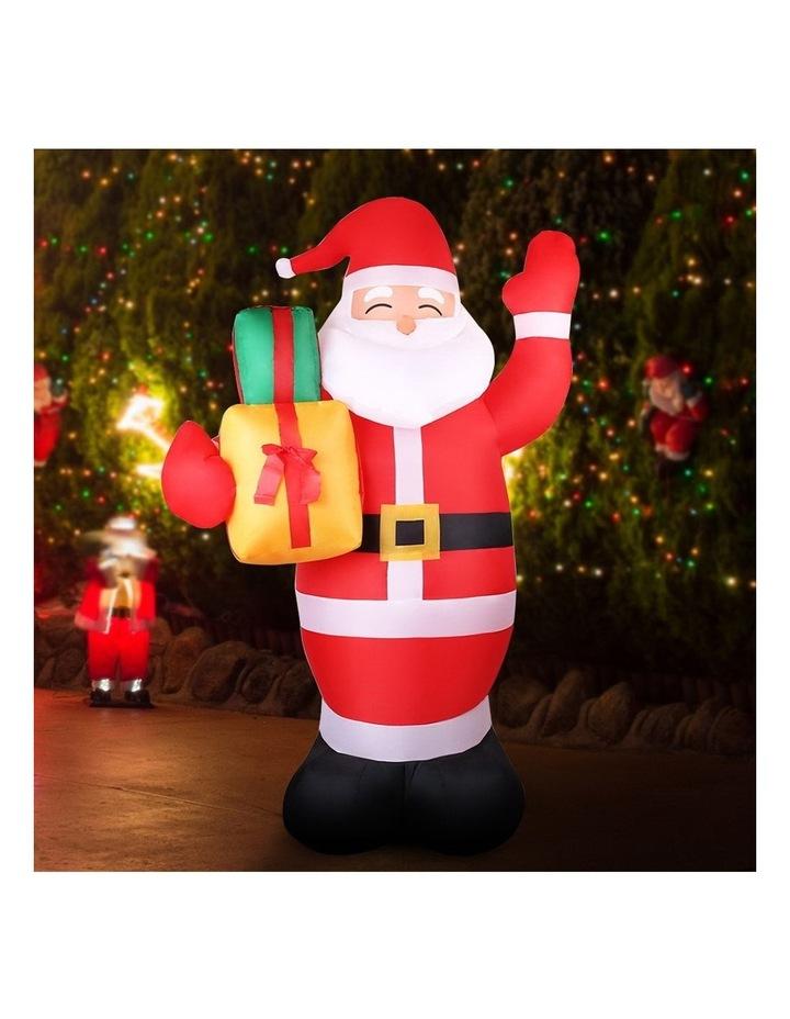 Jingle Jollys 2.4M Christmas Inflatables Santa Xmas Light Decor LED Airpower image 3