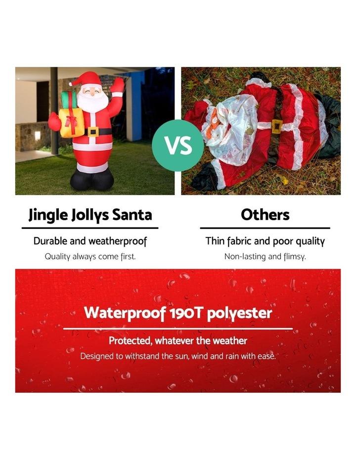 Jingle Jollys 2.4M Christmas Inflatables Santa Xmas Light Decor LED Airpower image 4