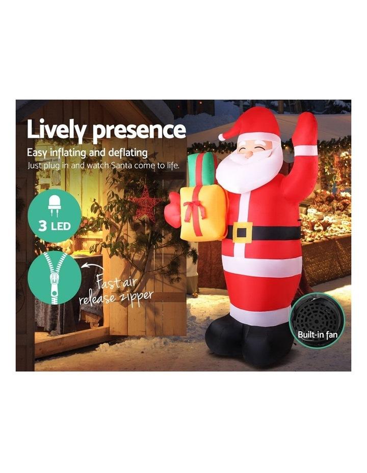 Jingle Jollys 2.4M Christmas Inflatables Santa Xmas Light Decor LED Airpower image 5