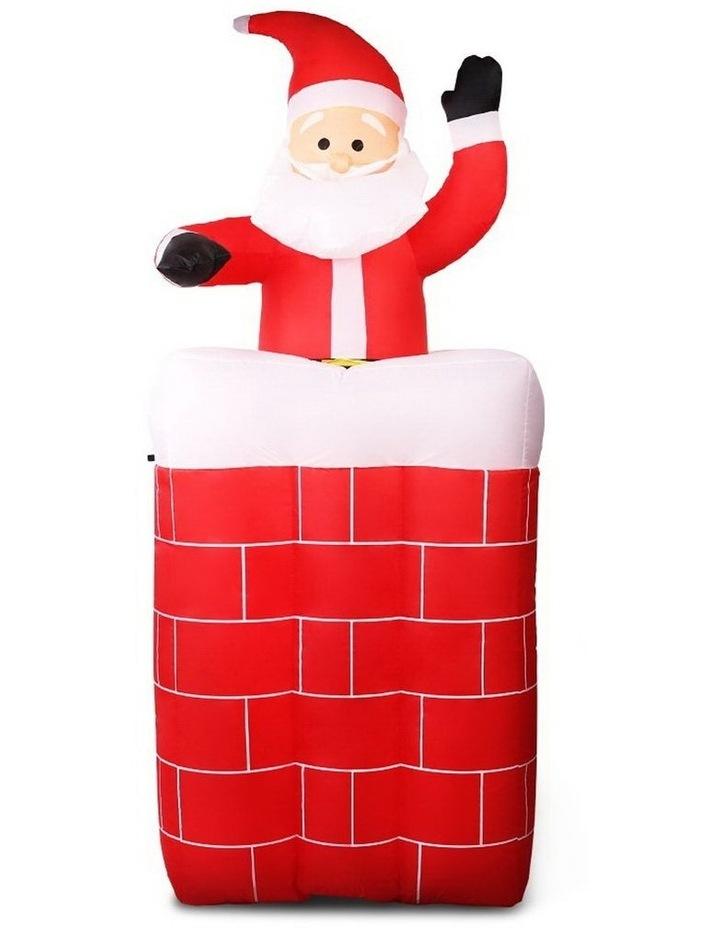 Jingle Jollys 1.8M Christmas Inflatable Archway with Santa Xmas Decor LED image 1