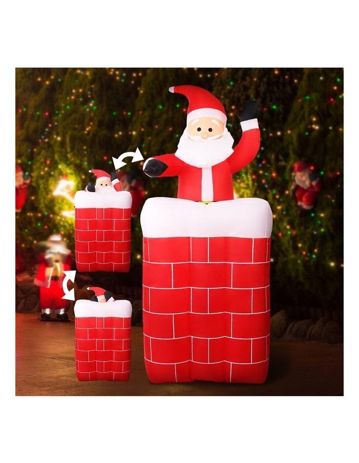 Jingle Jollys 1.8M Christmas Inflatable Archway with Santa Xmas Decor LED image 3