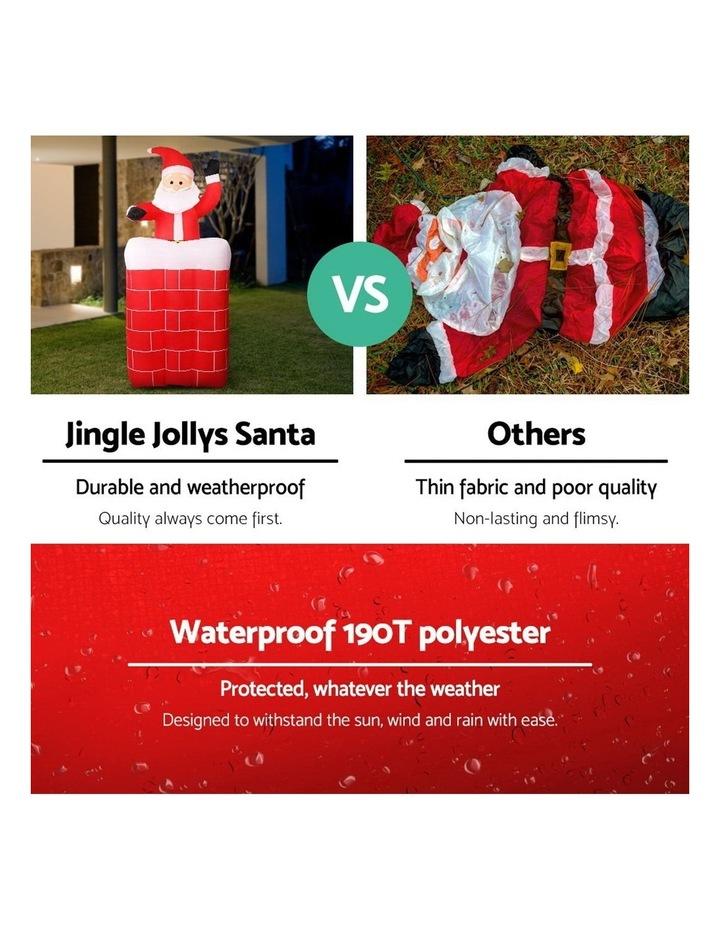 Jingle Jollys 1.8M Christmas Inflatable Archway with Santa Xmas Decor LED image 4